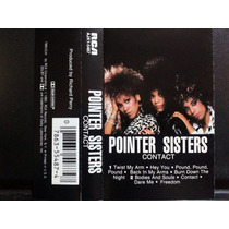 Pointer Sisters: Contact. Cassette Usado 1ra Ed 1985 Usa