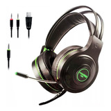 Audifonos Diadema Gamer Ps4 Xbox One S Jakc 3.5mm Pc Laptop