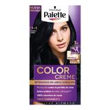 Tinte Palette Color Creme 1-1 Negro Azul