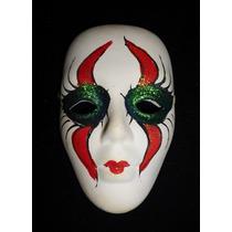 Máscara Cerámica Vintage Carnaval De Venecia. Colección.