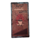 Coffee Break Lamina Metalica Cuadro Vintage Retro