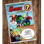 Invitación Digital Estilo Avengers Fiesta Infantil