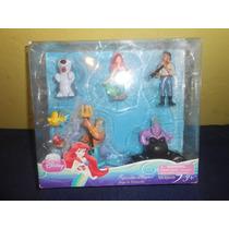 Set De 7 Figuras La Sirenita Original De Disney
