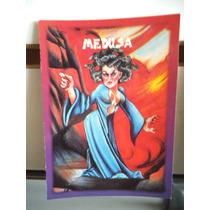 Tarjeta Medusa Monstruos Del Bolsillo Vintage