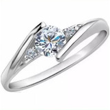 b75040cf5848 Anillo Compromiso Diamante Natural .40ct 14kt Mtx-co