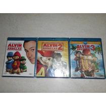 Set Alvin Y Las Ardillas (de La 1 A La 3) En Blu-ray Nuevas!