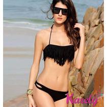 Traje De Baño Flecos Dama Importado Bikini Coreano