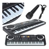 Piano Electrónico Con Micrófono 61 Teclas
