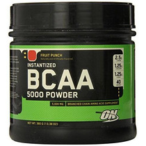 Optimum Nutrition Bcaa 5000 Mg Polvo Ponche De Frutas 40 Por