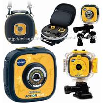 Vtech Camara Digital Kidizoom Sumergible C/maletin Estuche !