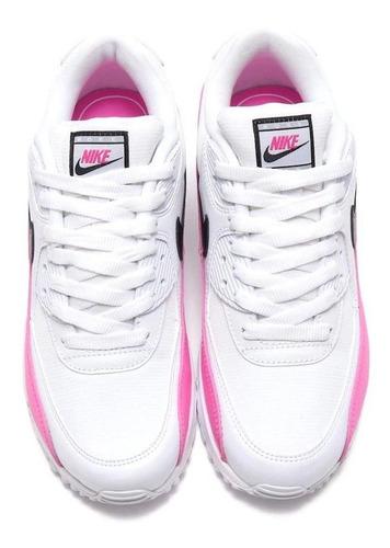 Tenis Nike Air Max 90 Blanco Con Rosa Paloma Negra en venta ...