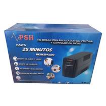 No-break Psh 500, 500va/300w, 4 Cont; Rj-11,2 Años Garantia