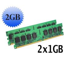 2 Memorias Ram Ddr2 De 1gb = 2gb. Pc2-4200 Pc2-5300 Pc2-6400
