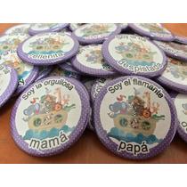 Botones Pins Baby Shower Bautizo Despedida 5.5cm (30 Pzas)