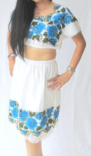 5 Blusas Y Vestidos Fino Bordado Yucateco Blusas Bordadas En