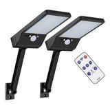 48led Lámpara Solar De Pared Flexible 48led Negro 2pack