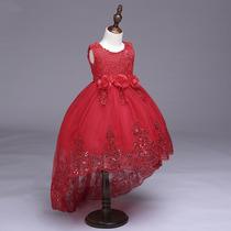 Vestido Para Niña Fiesta Elegantecola D Pato Color Rojo En