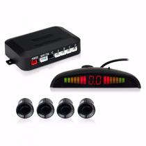 Sensores De Reversa 4 Puntos Display Y Alarma Color Rojo