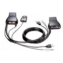 D-link Switch Vga 2 Computadoras En 1 Teclado Mouse Kvm-222