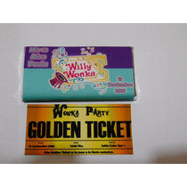 12 Recuerdo Invitación Chocolates Willy Wonka Gigante $11c/u