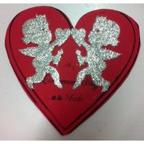 Figura De Foamy Corazon Fondo Rojo Cupido Amor Fomi