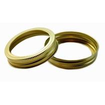 Tapa Para Mason Jar, Dos Piezas Color: Oro