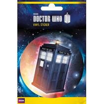 El Doctor Who Parachoques - Tardis Vinilo 10x15cm Oficial Sc