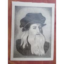 Dibujos A Lapiz De Retrato De Leonardo Da Vinci