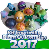 Kit Imprimible Plantas Vs. Zombies Decorar Fiesta Infantil