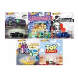 Hot Wheels Colección Serie Retro 5 Pzas Toy Story Scooby Doo