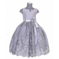 Vestido Elegante Niña Presentación N Tres Años Fiesta En