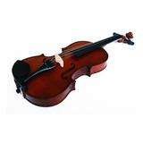Violin 4/4 Acustico Con Arco, Brea Y Estuche. Natural Mate