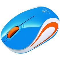 Remato Logitech Wireless Mini Mouse M187 Azul 100% Nuevos