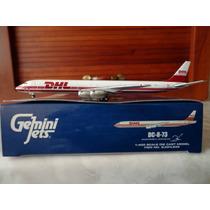 Precioso Avion Dc-8-73f De Dhl Gemini Jets En Escala 1:400