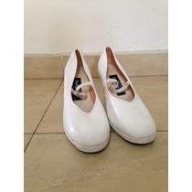 Zapatos De Danza Folklorica Blancos Pet