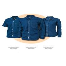 Uniforme Camisa Blusa Mezclilla,serigrafia,bordadora