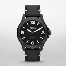 Reloj Fossil Hombre Negro Piel Jr1448   Envio Gratis