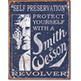 Smith & Wesson Protegete Vintage Retro Letrero Cartel Poster
