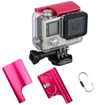Go Pro Seguro De Aluminio Carcasa Tapa Accesorios (rosa)
