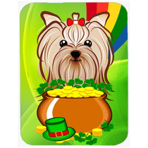 Cristal Día Yorkie Yorkishire Terrier St Patrick Tarjeta De