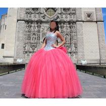 9f4d88155 Vestido Xv Años Color Coral Con Plata en venta en Miguel Hidalgo ...