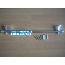 Cortinero P Pared 1.50 Barra De Metal Cromado Kit C 28 Pza