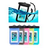 Funda Contra Agua Universal iPhone Galaxy Sumergible Colores
