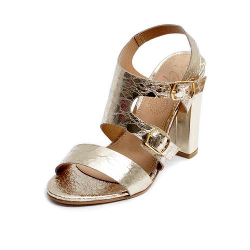 Tacón Zapatillas Plataforma Sandalias Mujer Moda Oro 4001 915926f52812