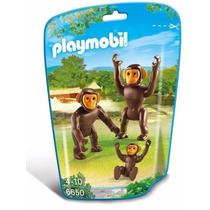 Playmobil 6650 Familia Chimpances Changos Zoologico Retromex
