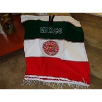 Jorongo Poncho Sarape Calendario Azteca Bandera De Mexico