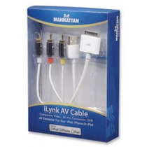 Cable Av Rca-30 Pines - Usb Para Ipod / Iphone