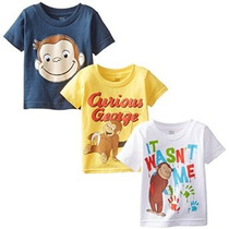 Los Muchachos Del Niño Assorted T 3-pack Curious George Litt