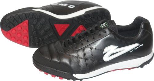 9e4c96e805dfb Zapatos De Futbol Rapido Olmeca Liga 8 En Piel mf Negro rojo