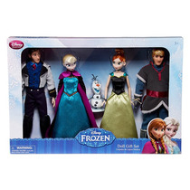 Set Delux Frozen Dolls Gift Disney Collector